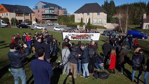 Protesta organizada por Ciudadanos el domingo en Waterloo.