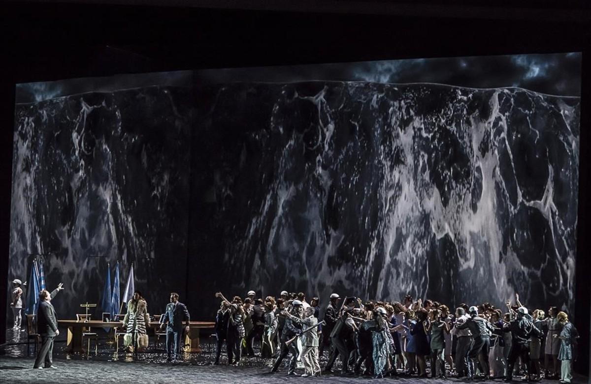 Uno de los momentos del montaje de 'Idomeneo', en el Palau de les Arts de València.