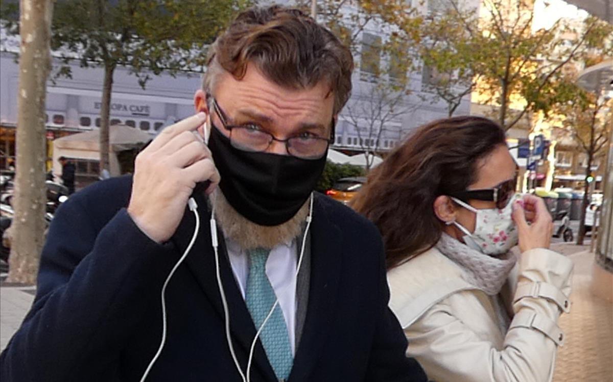 Telma Ortíz y Robert Gavin Bonnar , en una imagen reciente de la pareja en Madrid.