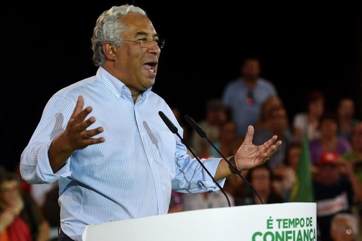 António Costa, primer ministro de Portugal y líder socialista, que logró desbancar en el Parlamento a la lista más votada.