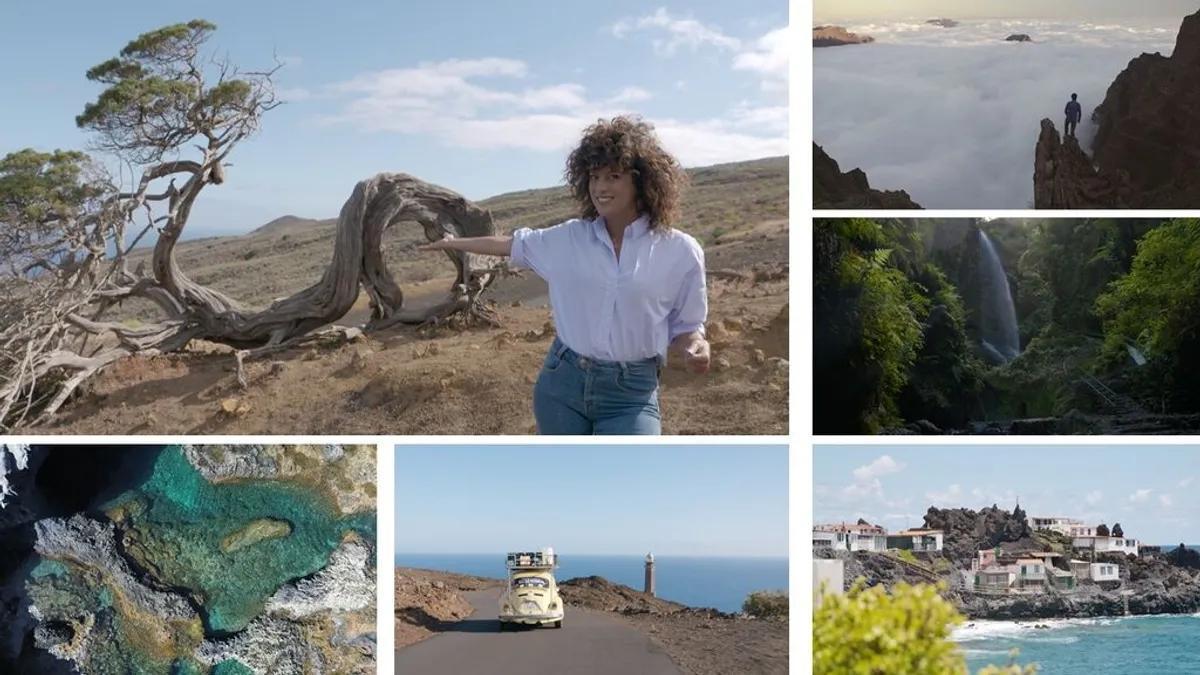 Escena de la nueva entrega de 'Viajeros Cuatro' en El Hierro y La Palma.