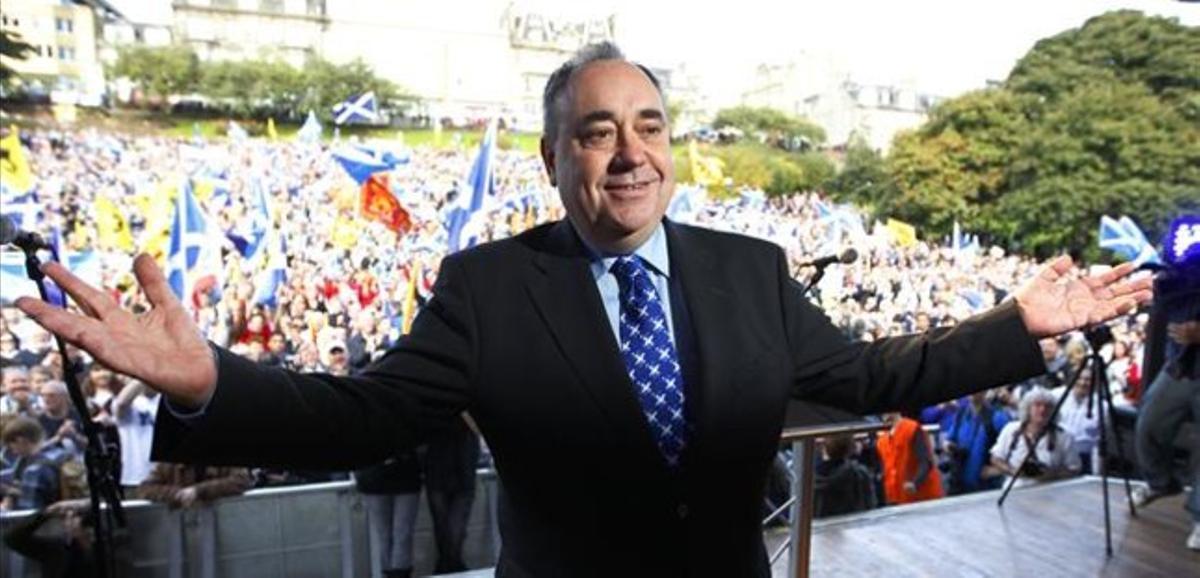 Salmond, en un acto a favor de la independencia este septiembre.