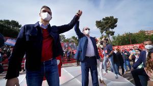 Mitin de cierre de campaña del candidato del Psoe a la presidencia de la Comunidad de Madrid Ángel Gabilondo junto al presidente del Gobierno Pedro Sanchez.