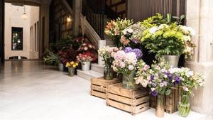 Puesto de Passage Flowers, ubicado en un extremo del pasaje de las Manufactures.