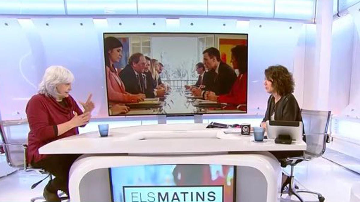 Dolors Sabater en el programa 'Els matins'.