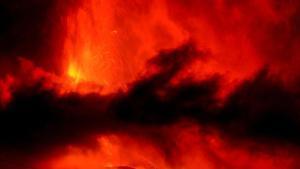 La erupción del volcán de La Palma.