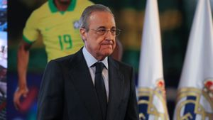 Archivo - Florentino Pérez, presidente del Real Madrid, durante un acto