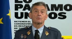 El jefe del Estado Mayor, Miguel Ángel Villarroya, en una comparecencia en mayo.