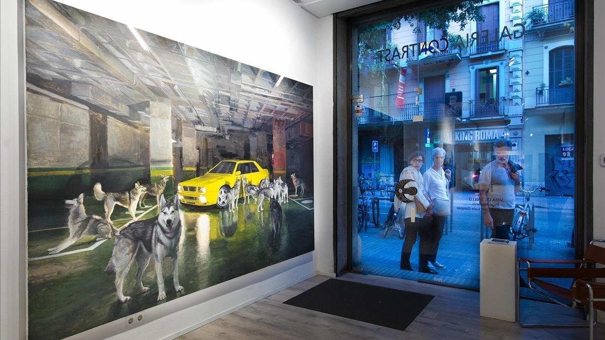 Exposición 'Vida de santo'de Íñigo Navarro, en la galería Contrast.