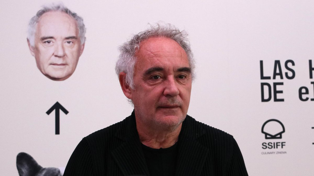 Ferran Adrià, en San Sebastián, este lunes.
