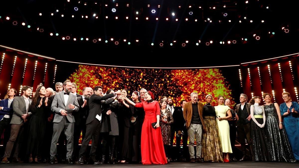 Los ganadores de la última edición del Festival de Cine de Berlín, el pasado febrero.