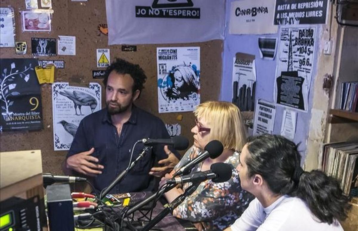 Miembros de Radio Nikosia, el miércoles.