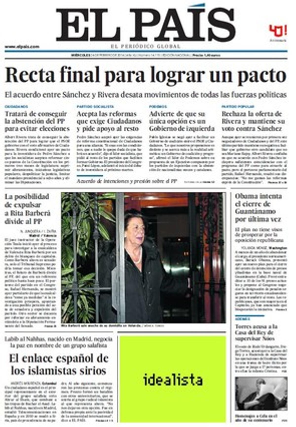 Sánchez-Rivera: un pacto de intenciones, un acuerdo de supervivencia, una apuesta...