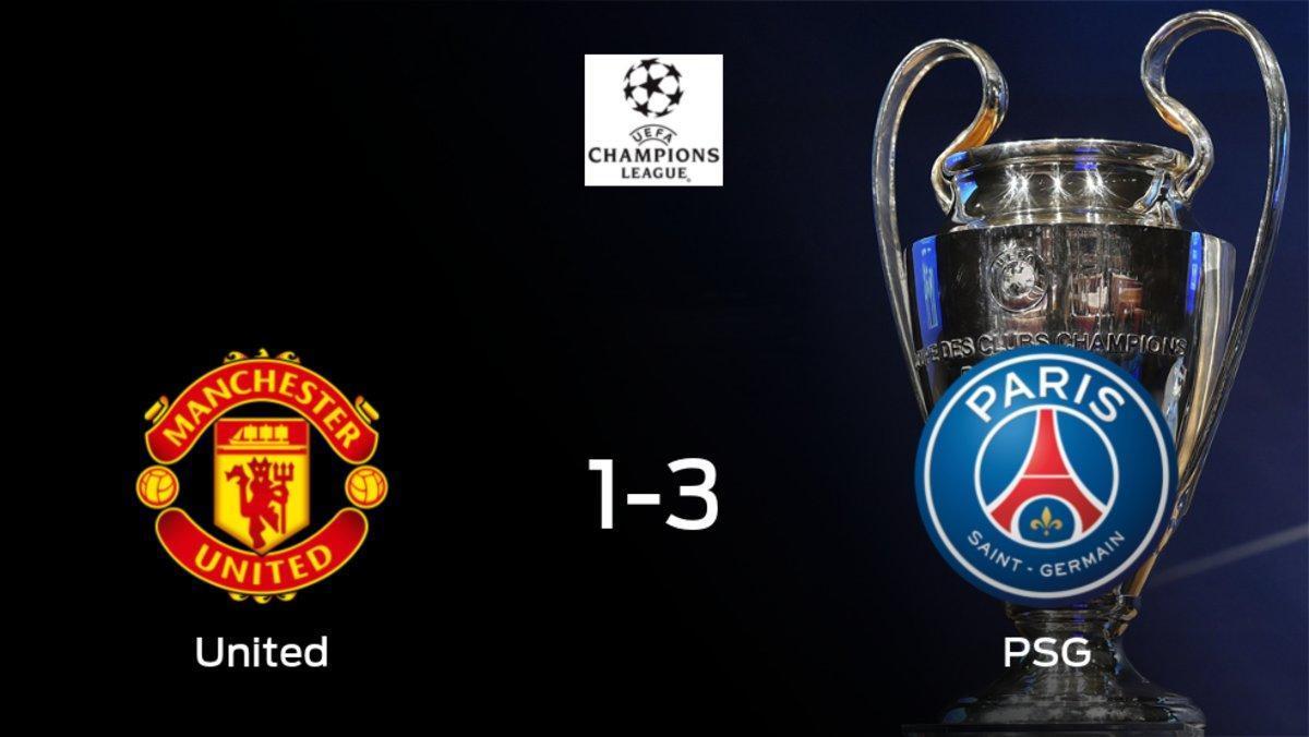 El París S. Germain gana 1-3 en el estadio del Manchester United