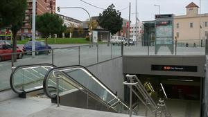 Estación de metro Can Peixauet.