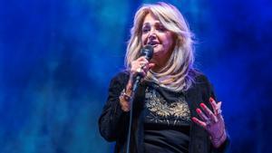 Bonnie Tyler, durante su actuación del sábado en Cambrils