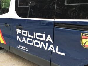 Furgoneta de la Policía Nacional.