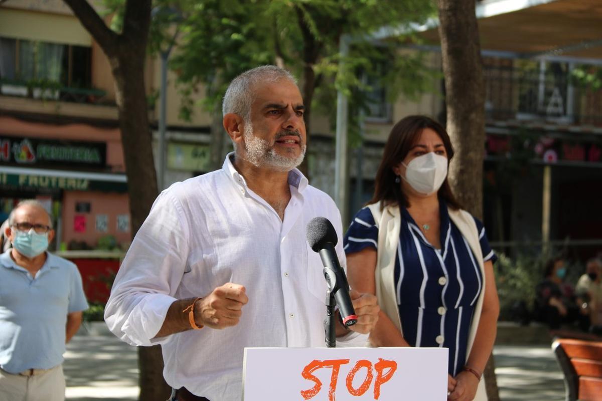 Carlos Carrizosa, presidente del grupo parlamentario de Ciudadanosen el Parlament de Catalunya, este 20 de septiembreen Barcelona.