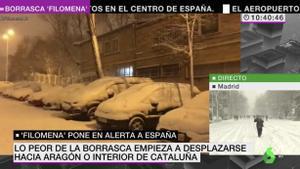El caos de 'Filomena': així estan cobrint les televisions en directe la nevada històrica a Madrid