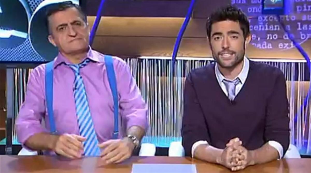 Wyoming y Dani Mateo, en el programa de humor de La Sexta 'El intermedio'.