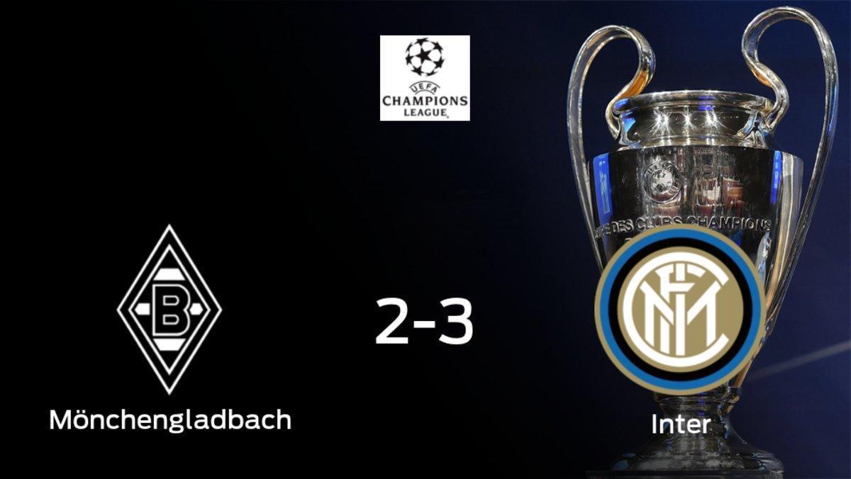 El Inter se queda con los tres puntos tras ganar 2-3 al Borussia Mönchengladbach