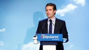 Pablo Casado, en un acto del PP.