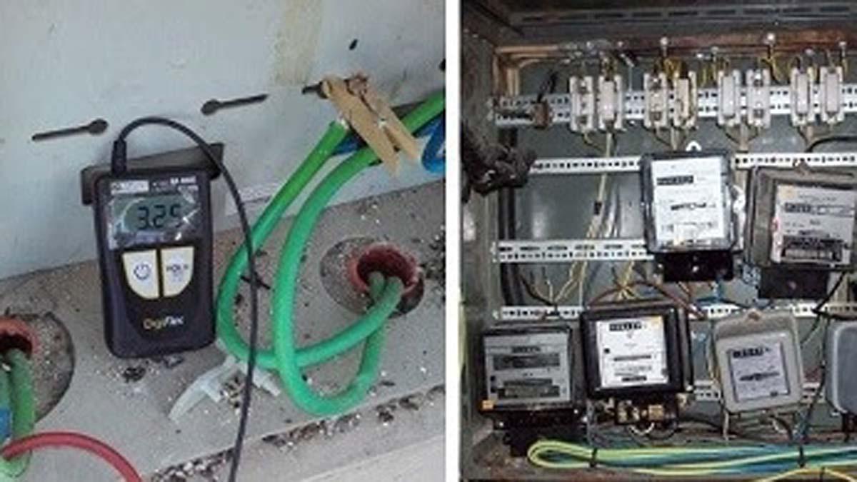 Conexiones eléctricas ilegales.