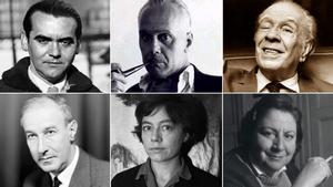 Federico García Lorca, Luis Cernuda, Jorge Luis Borges, Gerardo Diego, Alejandra Pizarnik y Gloria Fuertes.
