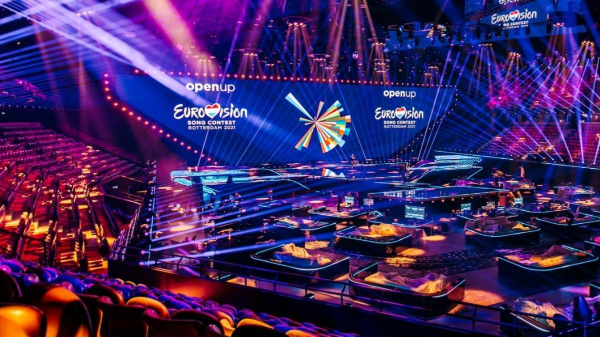 Imagen del escenario terminado de Eurovisión 2021