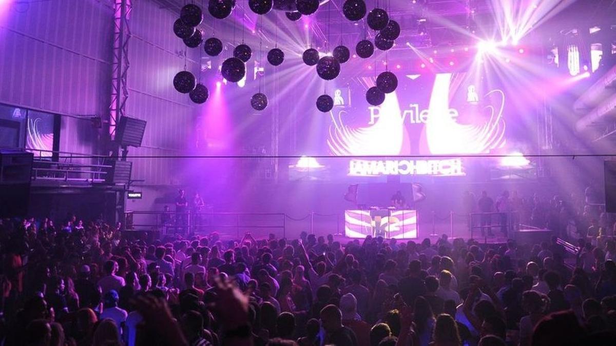 Una discoteca de Ibiza.