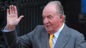 El rey emérito Juan Carlos I, el 10 de marzo del 2018 en Santiago de Chile.