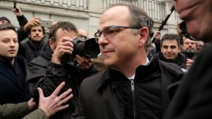 Jordi Turull, antes de entrar en el Supremo, el pasado 23 de marzo.