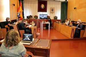 Pleno del Ayuntamiento de Badalona del 2 de mayo de 2020.