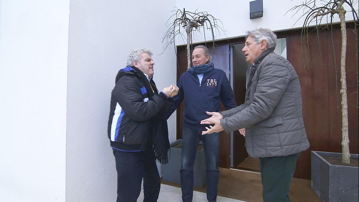 Bertín Osborne, entre Millán Salcedo y Josema Yuste, en 'Mi casa es la tuya'.
