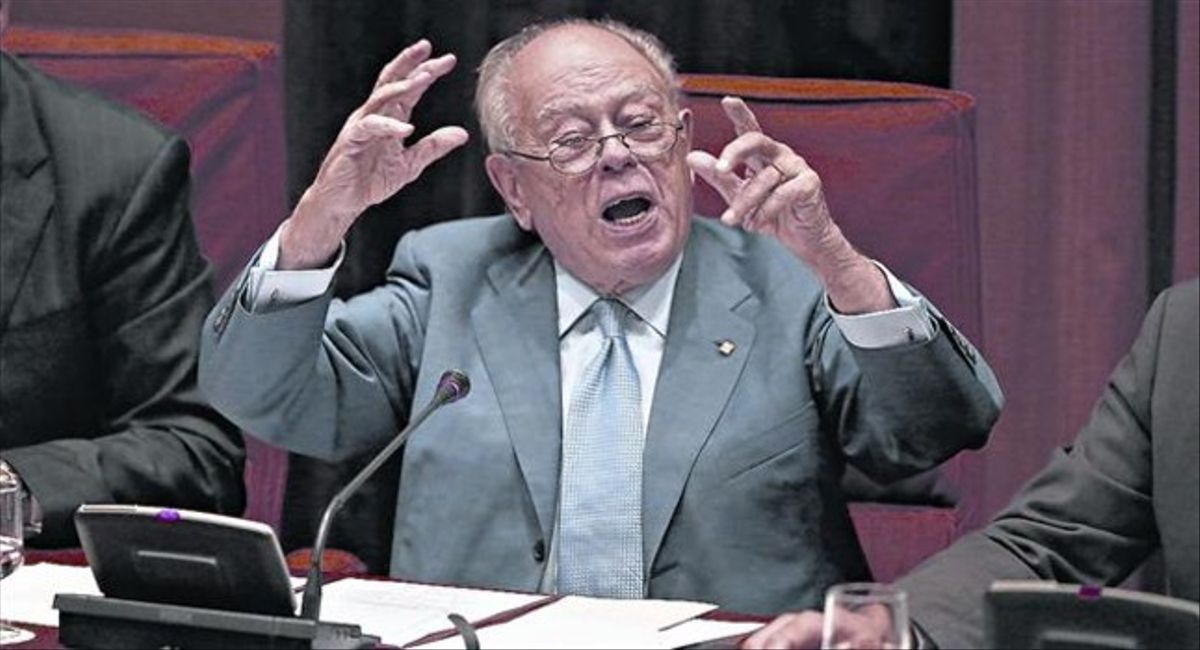 Jordi Pujol, durante su testimonio en el Parlament.