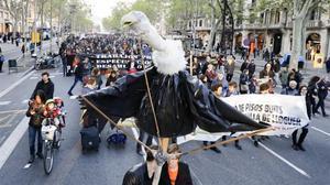 Manifestación contra la burbuja del alquilercelebrada en abril.