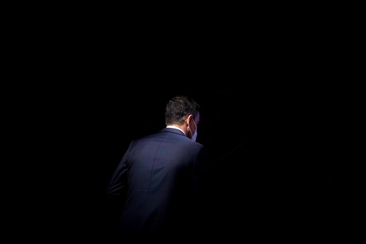 El presidente del Gobierno, Pedro Sánchez, durante la inauguración del IV Congreso CEAPI, el pasado 17 de mayo en Madrid.