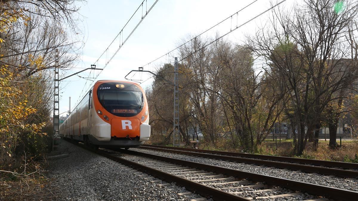 Vía del tren junto a la que se ha encontrado el cadáver.