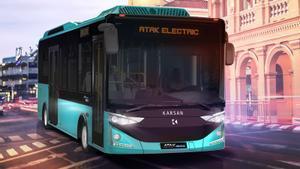 Bus eléctrico de la prueba