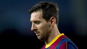 Messi, en el choque europeo contra el Dinamo de Kiev en el Camp Nou.