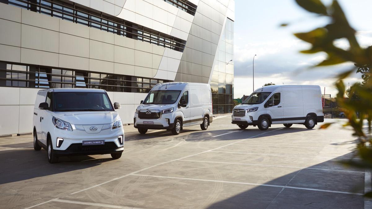 Las furgonetas eléctricas Maxus llegan a España desde 24.381 euros