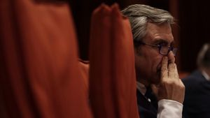 El que fuera director de la Oficina Antifrau de Catalunya,Daniel de Alfonso, comparece ante la comisión de Afers Institucionals del Parlament.