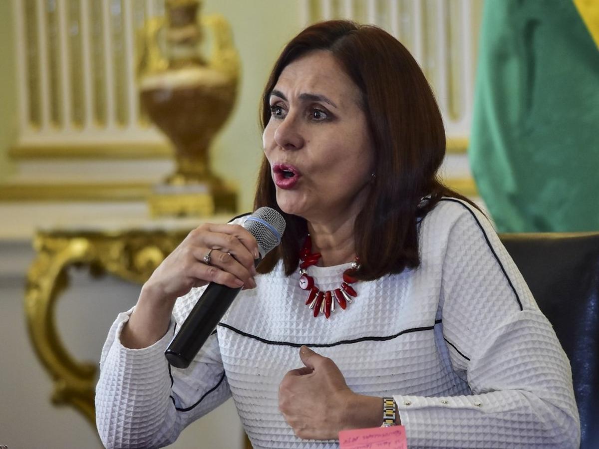 Karen Longaric,canciller interina de Bolivia.