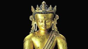 El buda del siglo XIII en bronce de la colección Thyssen, subastado en Christie's.