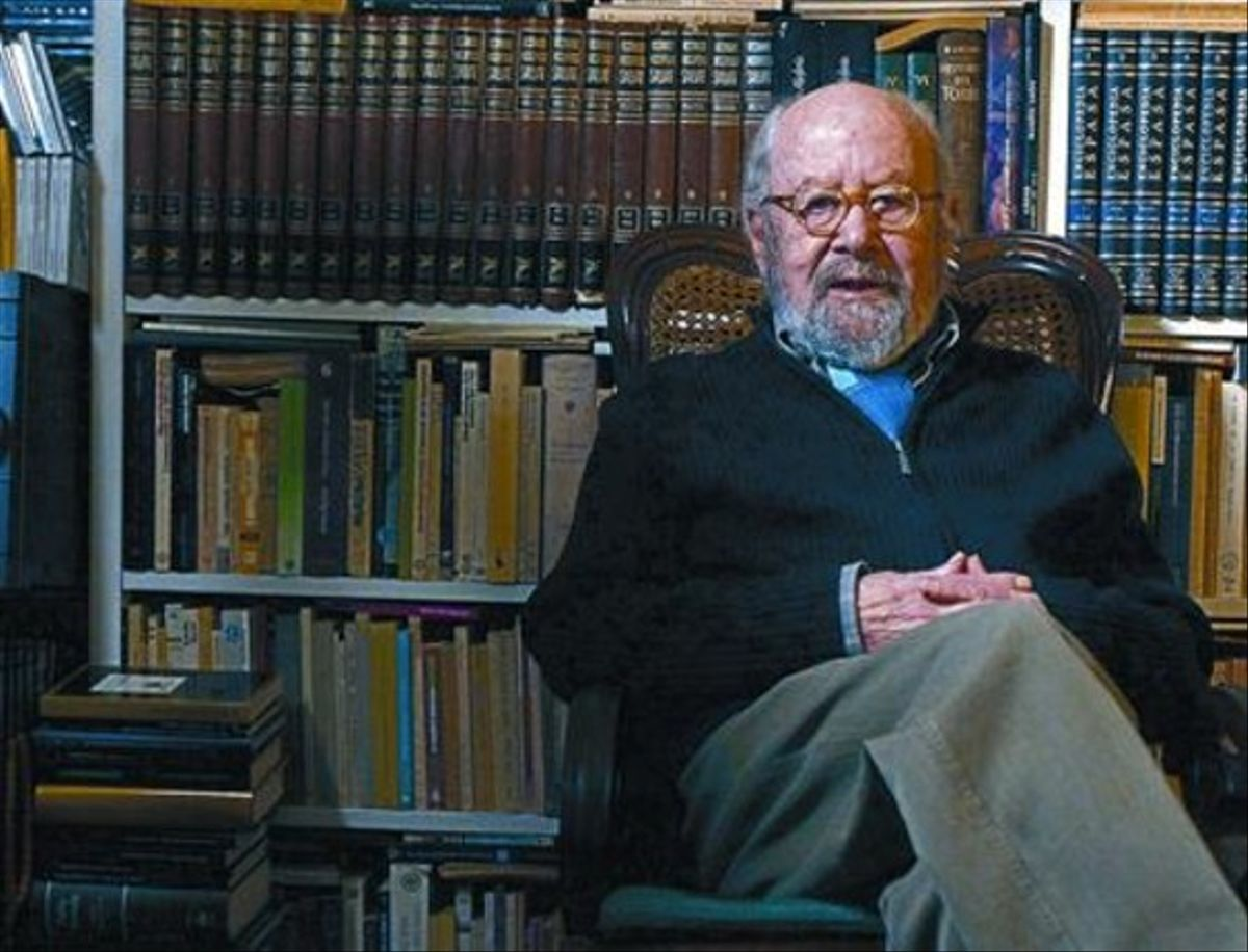 José Manuel Caballero Bonald, ahir al seudomicili madrileny.
