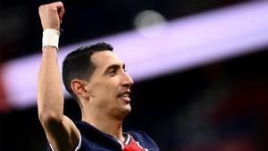 Ángel di María, durante el partido contra el Nantes.