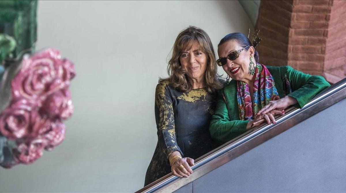 Maria del Mar Bonet y Martirio, este miércoles en el Palau de la Música.