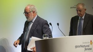 Arias Cañete, izquierda, y Salvador Gabarró.
