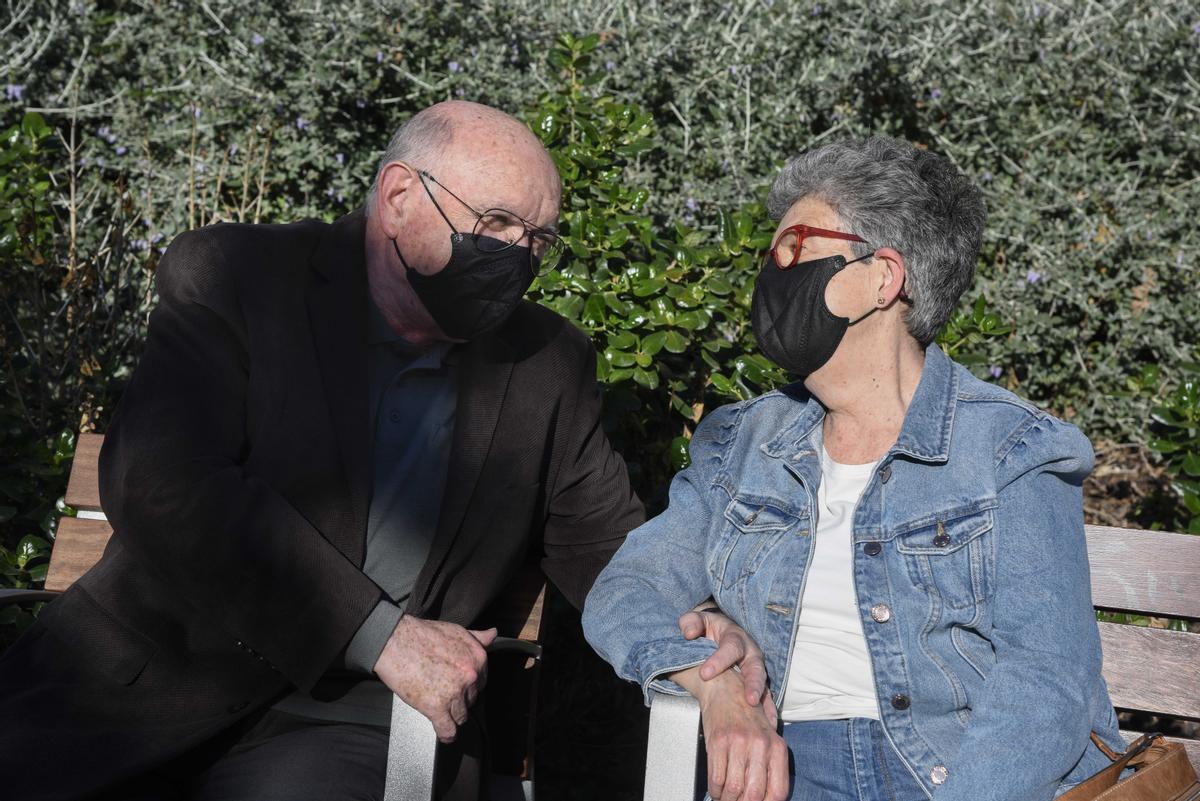 Bernat Soriano y su esposa, Lidia Oliver, esta semana, en Barcelona.