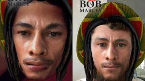 Dos usuarios de Snapchat utilizando el filtro de Bob Marley